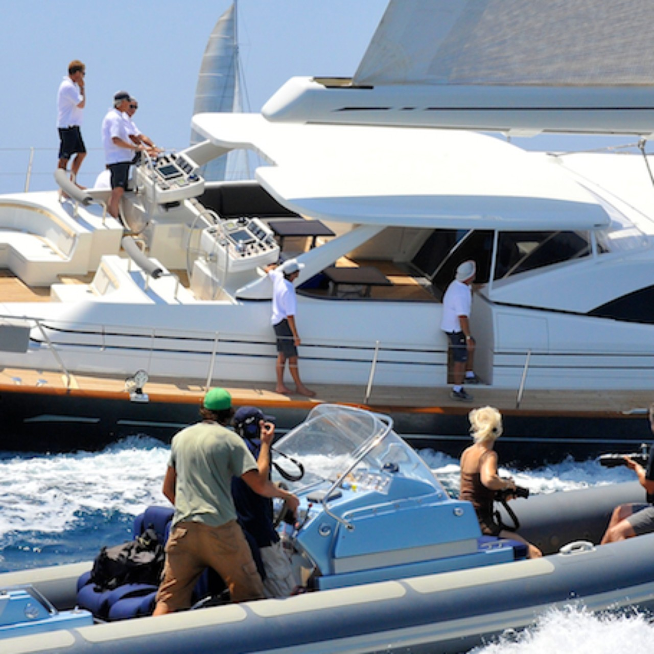 Photographing The Sail Yacht Ganesha At The Superyacht Cup Palma
